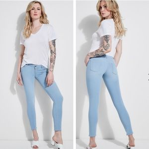 Guess Lite Wash Mid Crop Skinny Ankle Jeans